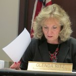 State superintendent Glenda Ritz prepares to chair the November 13, 2013, meeting of the State Board of Education.
