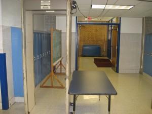 A school metal detector in Dallas, Texas.