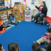 A Head Start teacher in South Bend reads to her students.