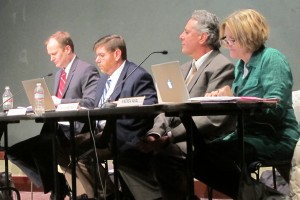 State Board of Education members Gordon Hendry, left, Brad Oliver, David Freitas and Andrea Neal listen during a previous meeting.