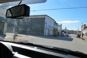 Cannelton City Schools Supt. Al Sibbitt drives down the town's main drag.