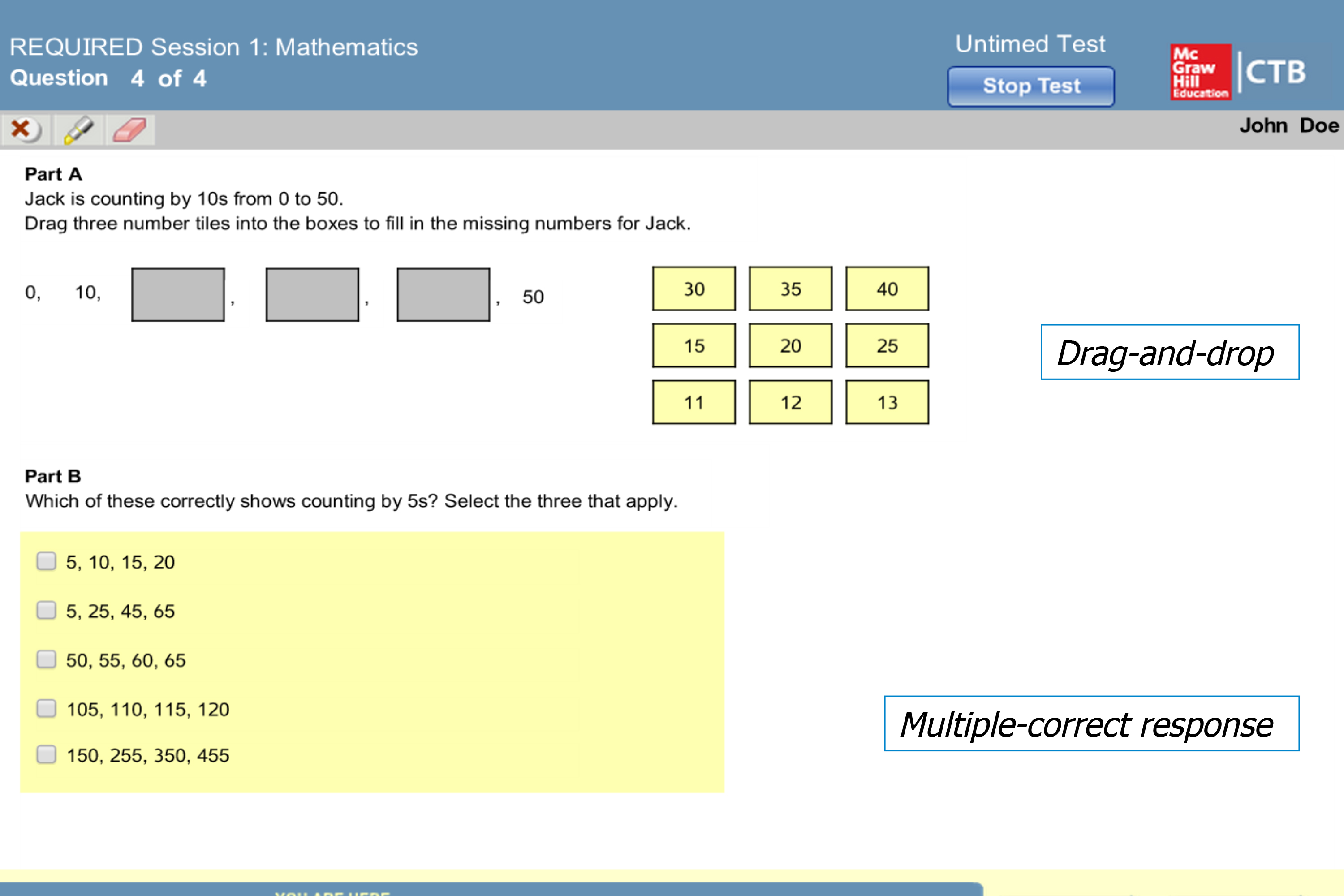 A Sample Math Problem From The New CoreLink Test Would Require Students  U0027drag And Drop  Career Tests
