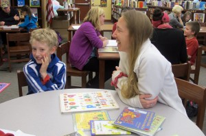 School officials at Fairview Elementary encourage parents to attend tutoring sessions with their children so they can learn strategies for reading at home.