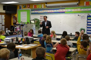 Rep. Messer visits a class at North Decatur Elementary.