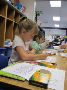Children at Emerson Elementary School in Seymour participate in the Kindergarten prep program.