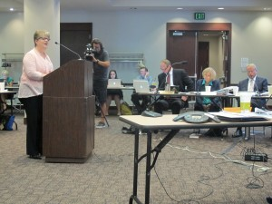 IDOE Director of Assessment Michelle Walker addressed the State Board of Education Wednesday.