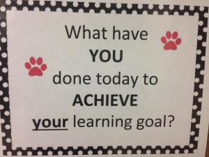 Posters like this are all over Glenwood Leadership Academy to encourage students.