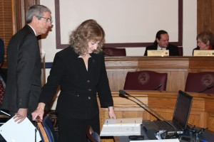 Glenda Ritz asked the State Budget Committee for $65 million to go toward testing and remediation in 2015. (Photo Credit: Rachel Morello/StateImpact Indiana)