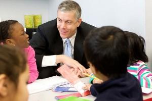 U.S. Secretary of Education Arne Duncan visits with preschoolers in Virginia last year. (Photo Credit: U.S. Department of Education)