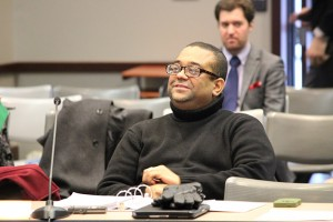 Tony Walker listens during a State Board of Education meeting in January. (Photo Credit: Rachel Morello/StateImpact Indiana)