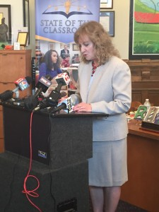 State superintendent Glenda Ritz told reporters Thursday the actions of the General Assembly this session regarding education are making her consider a run for governor in 2016.
