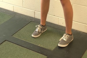 Every time someone steps on a Pavegen tile installed at Bloomington High School South, the kinetic energy from the footstep creates a few watts of energy.