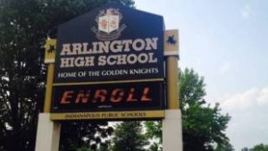 Arlington Community High School has returned to Indianapolis Public Schools Corp. after three years being run under a state contract by charter school company Tindley Accelerated Schools. (Photo Credit: Eric Weddle/WFYI Public Media)