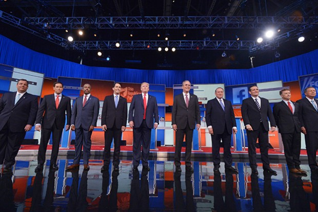 The top ten Republican candidates for president, as determined by national polling data, took part in a televised debate hosted by Fox News Thursday night. (Photo Credit: scrolleditorial/Flickr)