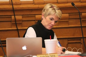 State Board of Education member Cari Wicker at Wednesday's special meeting. The SBOE had its last discussion around new diplomas to be implemented in the 2018-2019 school year.