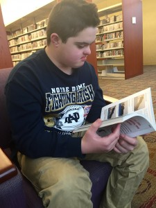 Nash Huffman, a freshman at Noblesville High School, is working toward the current General Diploma. His intellectual disabilities force him to work harder to meet certain graduate guidelines.