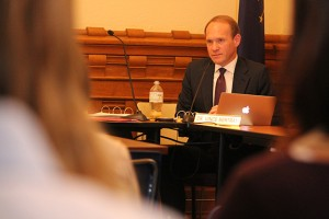 Vince Bertram will meet with the rest of his State Board of Education colleagues Wednesday at the Statehouse. (Photo Credit: Rachel Morello/StateImpact Indiana)
