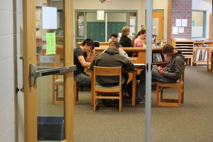 Bluffton High students study in their school library. (Photo Credit: Rachel Morello/StateImpact Indiana)