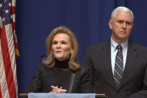 Commissioner for Higher Education Teresa Lubbers and Governor Mike Pence announced a new program aimed at getting more adults with only high school diplomas back to college.