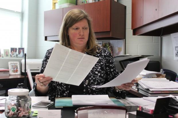Principal Helene Blum at the Evans School. (Peter Balonon-Rosen/StateImpact)