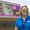 Fort Wayne Community Schools will spend about $10,000 on billboards this summer. District spokesperson Krista Stockman says state funding from a gain of two new students would pay for the billboards. (Peter Balonon-Rosen/Indiana Public Broadcasting)