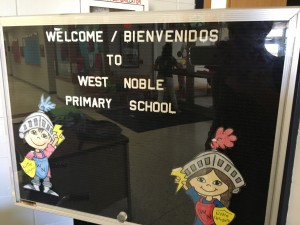 50 percent of the students at West Noble Primary School in Ligonier are Latino, making it a perfect place to start a dual language immersion program.
