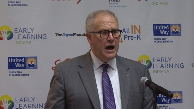 Outgoing CEO of Eli Lilly John Lechleiter outlines the need for the access to affordable pre-k in Indiana. Eli Lilly is partnering with several other groups statewide to lobby the 2017 legislature to create pre-k scholarships for low-income families.