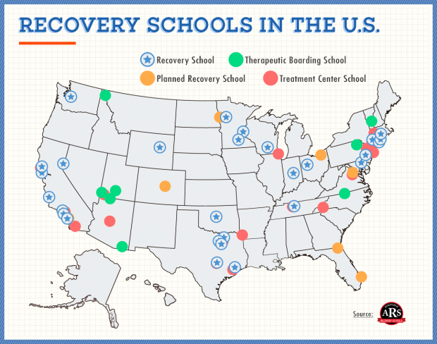 According to a new report, students in recovery at a recovery school are less likely to relapse than teens in other substance abuse programs. Indiana is home to one of the 34 recovery schools in the U.S. (Recovery.org)