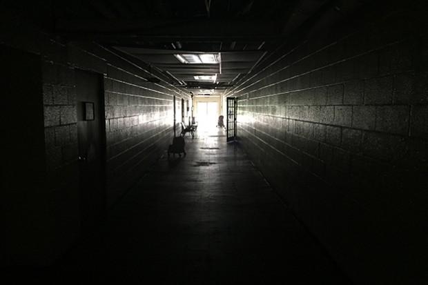 A hallway in Seven Oaks Charter School. (Brad Davis/WFIU)
