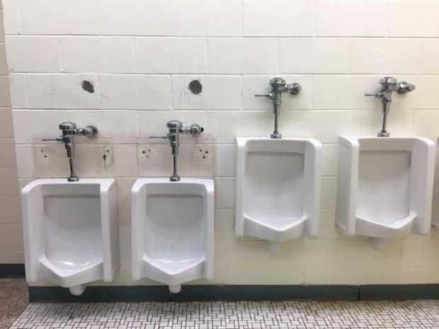 When Carrie Gosch Elementary decided to move into an old middle school, the district had to make adjustment to accommodate the younger students. Toilets, counters, and other structures within the school had to be lowered.