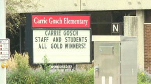 Carrie Gosch Elementary in East Chicago moved buildings this year because lead was found in the soil under the school.