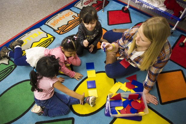 According to state law, to be eligible for state-funded pre-K, a parent needs to be working or attending school within 30 days of the program's start.  (Peter Balonon-Rosen/Indiana Public Broadcasting)