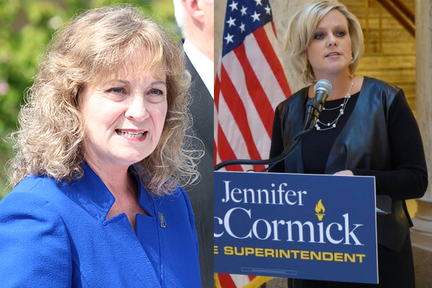 State superintendent Glenda Ritz and Jennifer McCormick, the candidates for state superintendent.