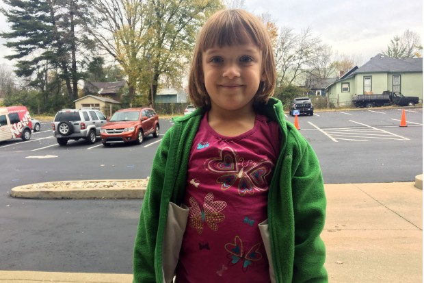 """Lorelei Jaffe went to vote with her mom. She brought along the book """"White House Dog"""", and when asked if a dog would make a good president? """"I guess so."""""""