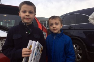 Graham and Allister LAST NAME voted with their parents Tuesday morning.