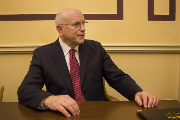 Sen. Dennis Kruse, R-Auburn, has authored two bills expanding teacher background checks. The bills are currently being considered by the Indiana House Committee on Education. (Peter Balonon-Rosen/Indiana Public Broadcasting)