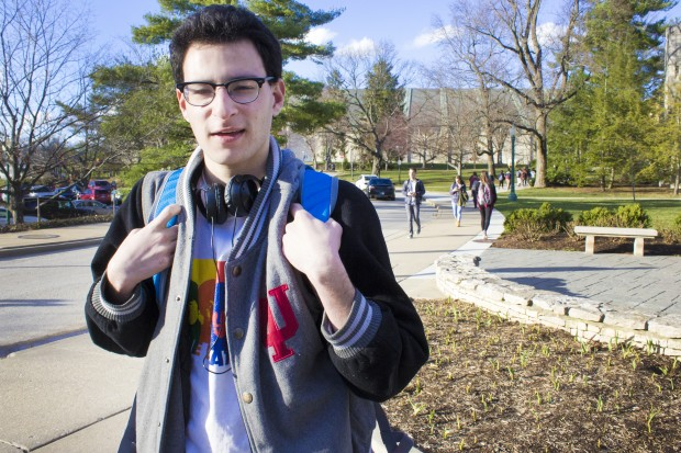 Abe Shapiro has spent his freshman year working to raise autism awareness on Indiana University campus. (Peter Balonon-Rosen/Indiana Public Broadcasting)Abe Shapiro has spent his freshman year working to raise autism awareness on Indiana University campus. (Peter Balonon-Rosen/Indiana Public Broadcasting)