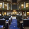 Indiana lawmakers eyed bills around prayer in school, union involvement, student journalists and collective bargaining this week. (Peter Balonon-Rosen/Indiana Public Broadcasting)