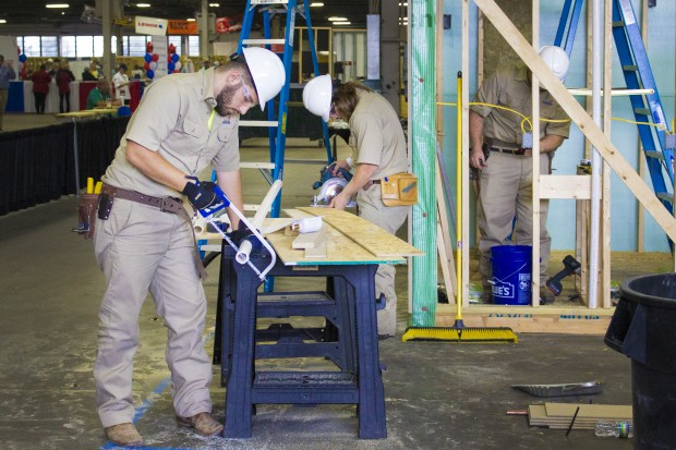 Indiana's career and technical education programs are growing rapidly. Students from around the nation compete each year in job skills contests at the SkillsUSA national competition, pictured here. (Peter Balonon-Rosen/Indiana Public Broadcasting)