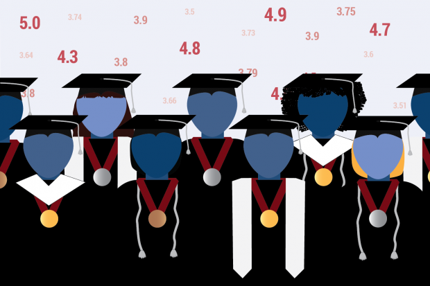 Across Indiana, school districts plan to ditch valedictorian rankings in favor of new ranking models. (Lauren Chapman/Indiana Public Broadcasting)