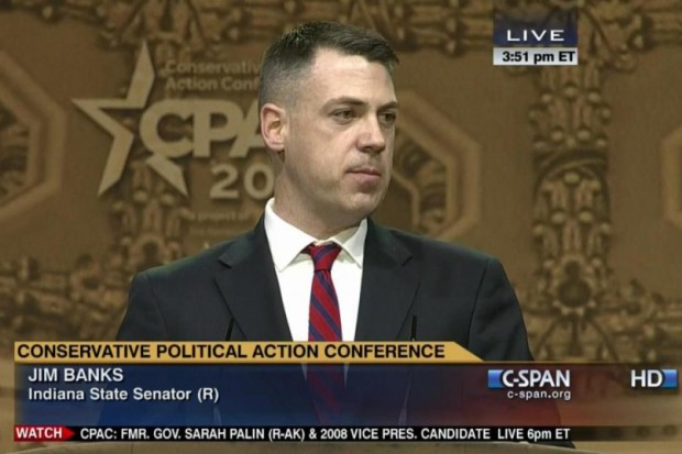 U.S. Congressman Jim Banks, a Republican Representative for Indiana's 3rd District, is asking U.S. Education Secretary Betsy DeVos to delay changes to the high school diploma in Indiana. (C-SPAN)
