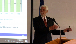 MCS CFO Bob Coddington talks about restructuring the district's debt. (Tony Sandleben/IPR)