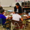 A teacher and students work at Indianapolis Public Schools' Meredith Nicholson School 96. (Photo courtesy of IPS)