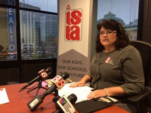 ISTA President, Teresa Meredith outlines the union's priorities in 2018. (Jeanie Lindsay/IPB News)