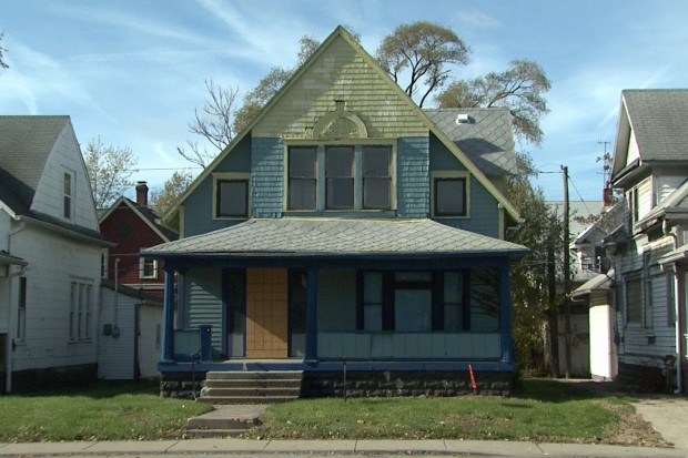 The teachers' village will include renovations of existing structures, like this one, and newly built houses to offer affordable housing for teachers. (Steve Burns/WTIU)