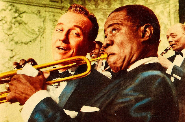 Louis Armstrong and Bing Crosby