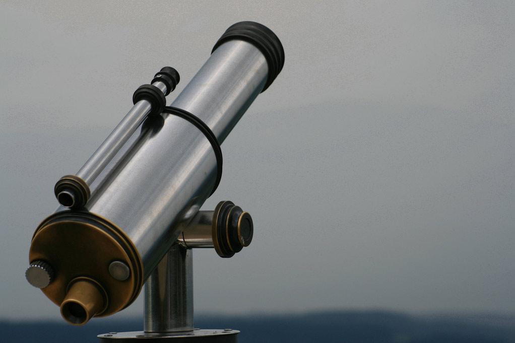 silver telescope