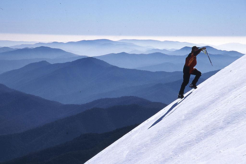 mountain climber on a mountain