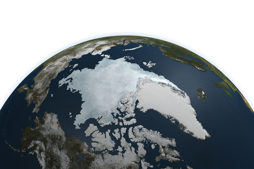 NASA photo of arctic ice