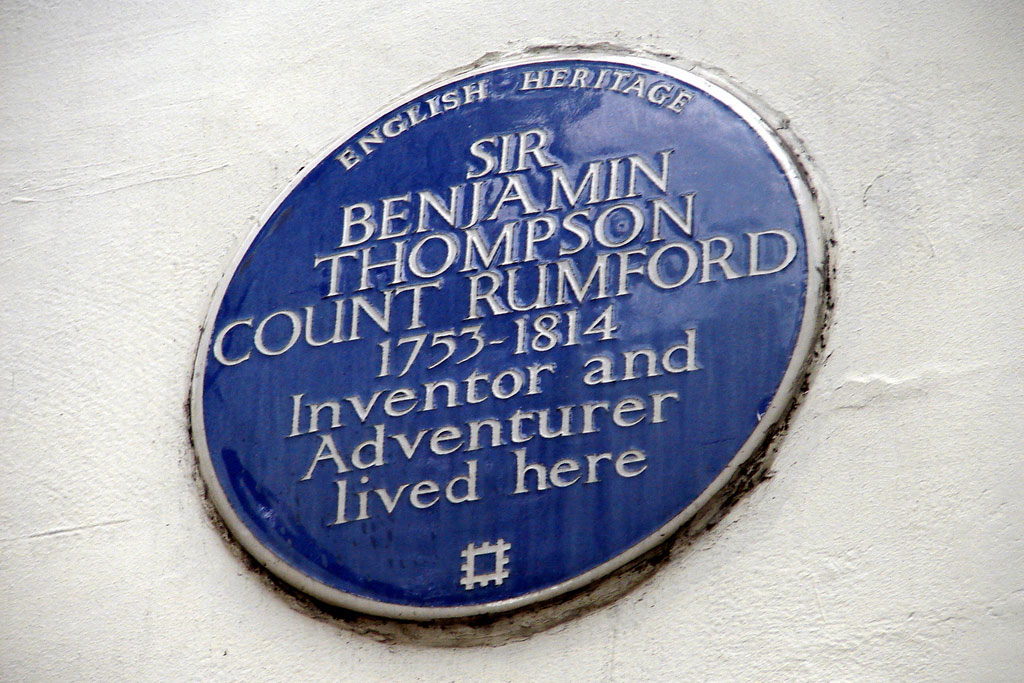 plaque for birthplace of Count Rumford